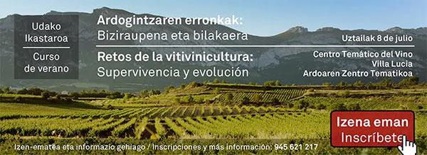 "Curso de verano: ""Retos de la vitivinicultura"""