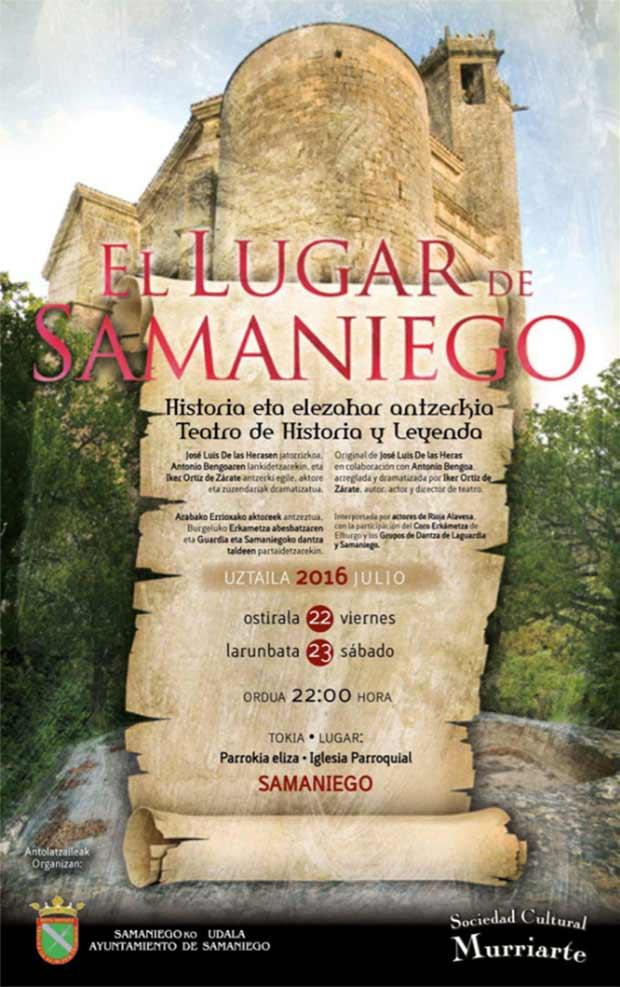"""""""El lugar de Samaniego"""": teatro histórico y de leyenda"""