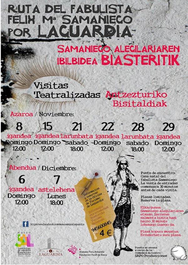 Visitas teatralizadas sobre el fabulista felix mar a samaniego for Oficina turismo laguardia