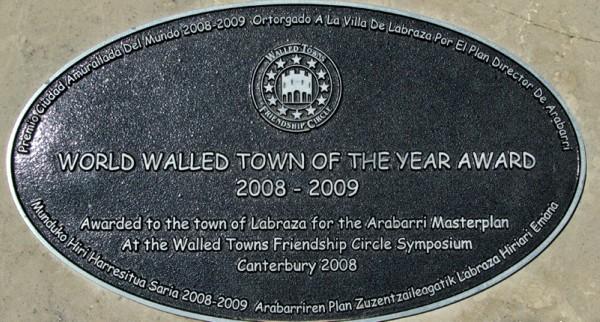 Labraza premio ciudad amurallada