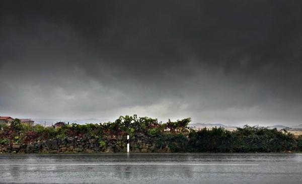 Llueve en Rioja Alavesa