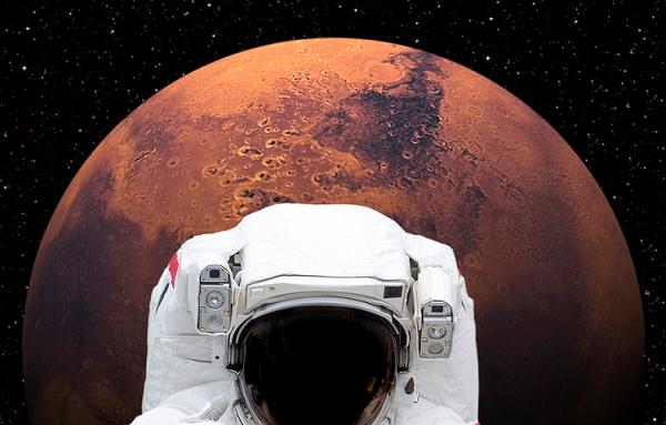 Vino tinto en viajes a Marte