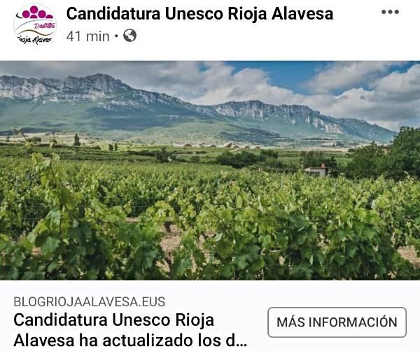 Candidatura UNESCO Rioja Alavesa en 2021
